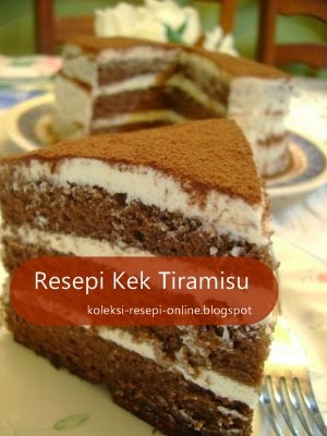 Resepi Kek Tiramisu ala Secret Recipe
