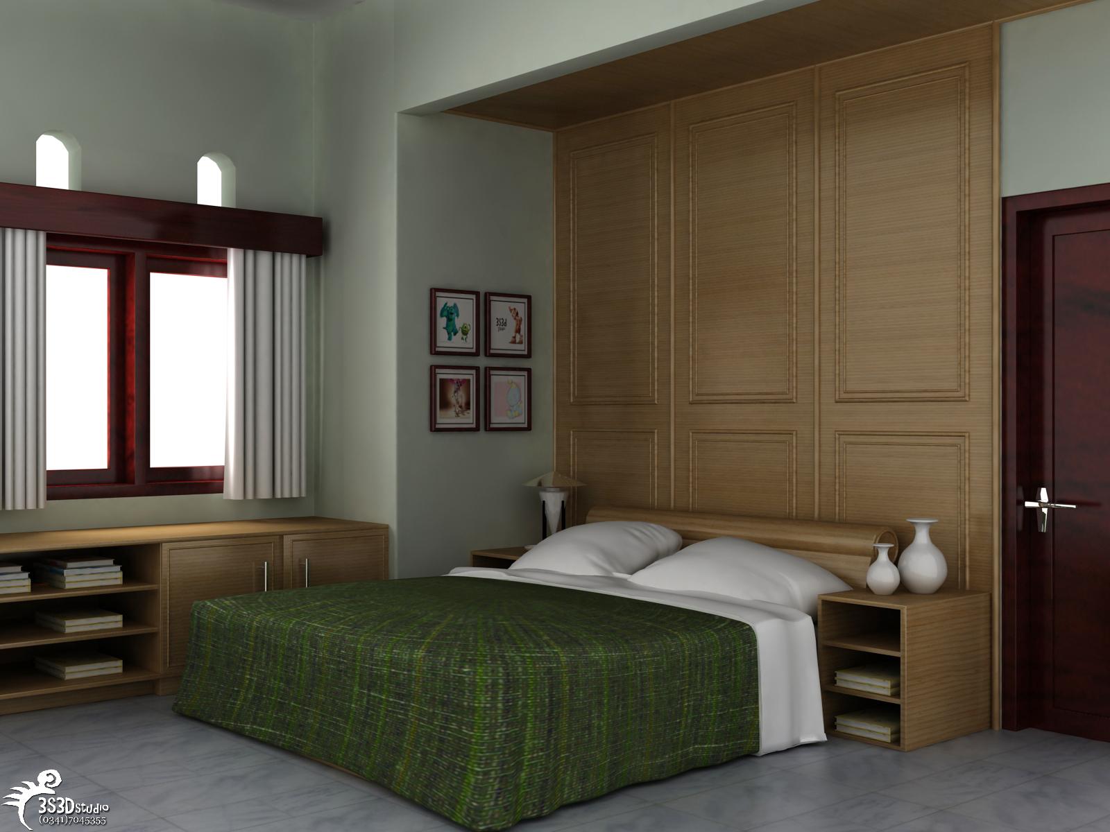 Design interior rumah interior kamar tidur 1 for Interior decoration rumah