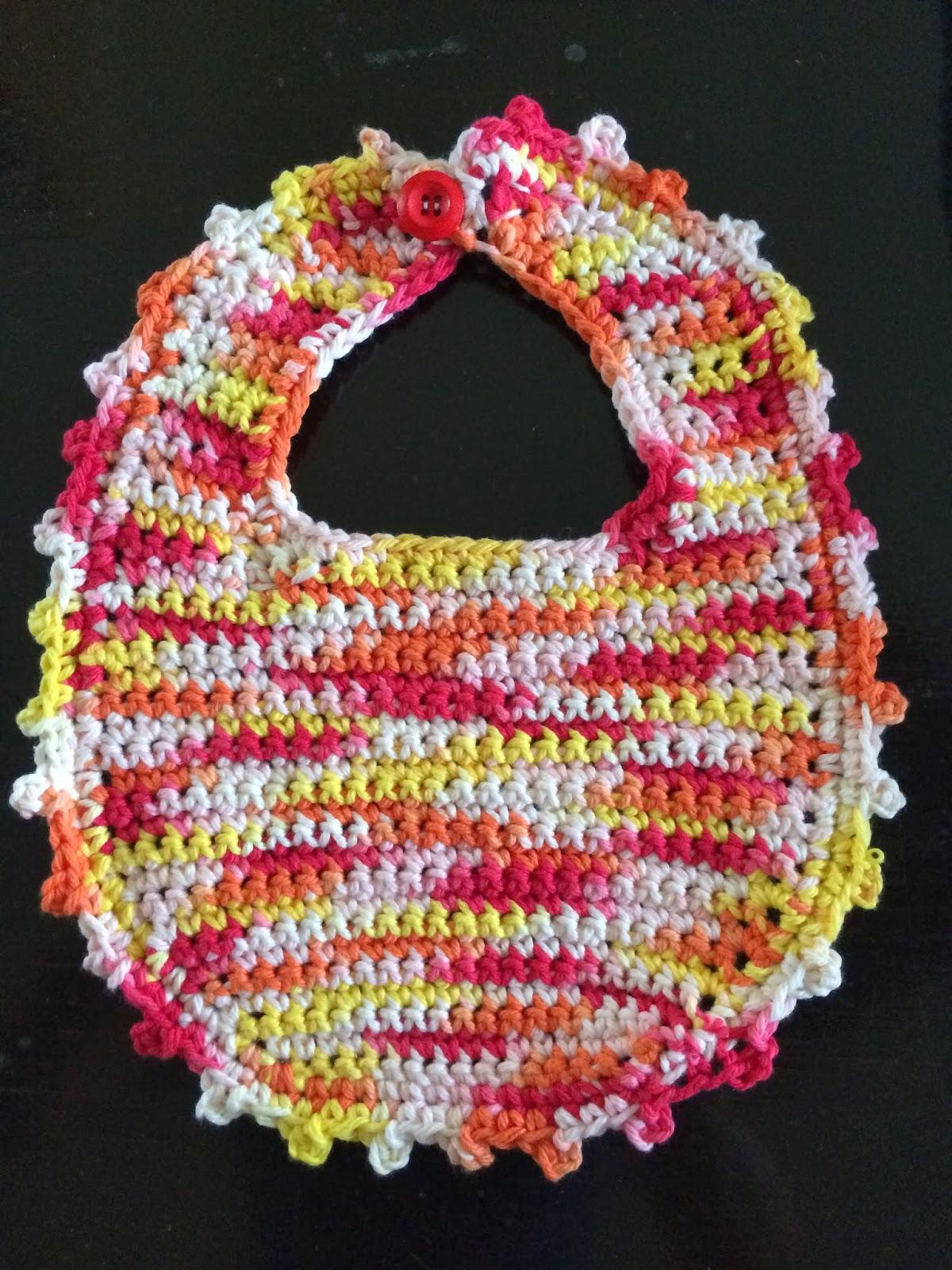 Crochet Picot Stitch Baby Bib - Free Pattern | Not My Nana\'s Crochet!