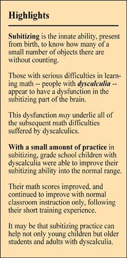 This situation Dyscalculia in adults