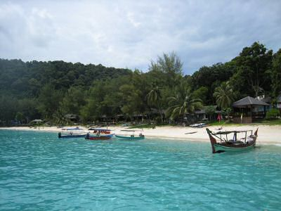 Boats on the beach of the Perhentian Islands