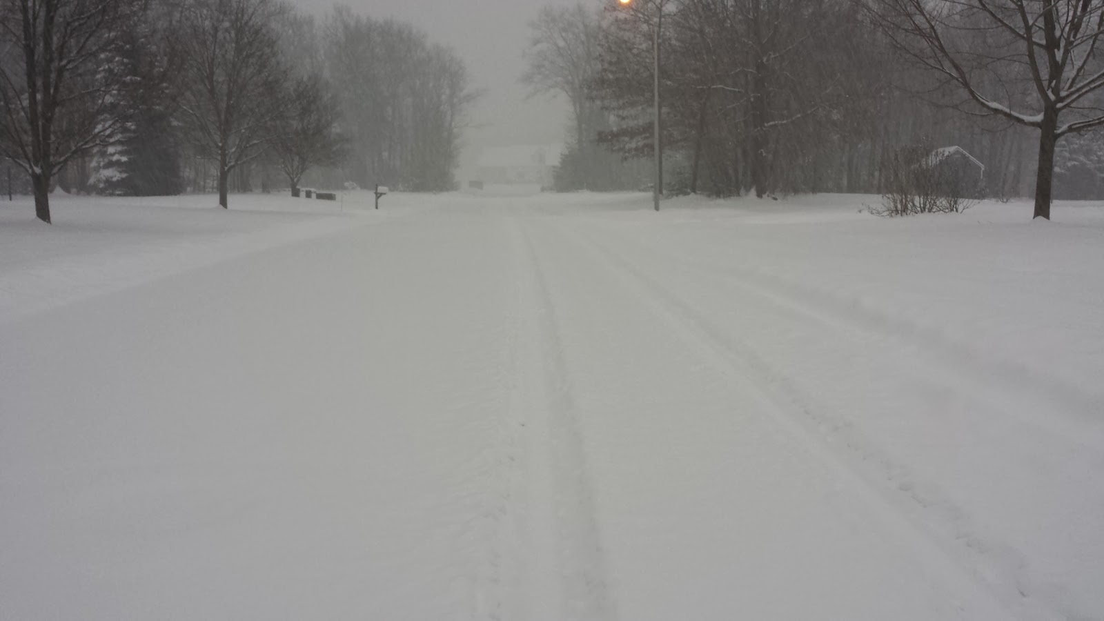 side road in Franklin during a recent snow storm