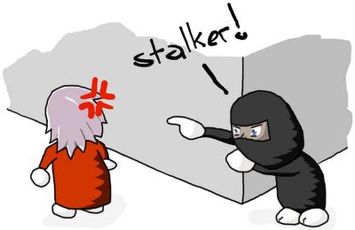 stalker stalking a girl