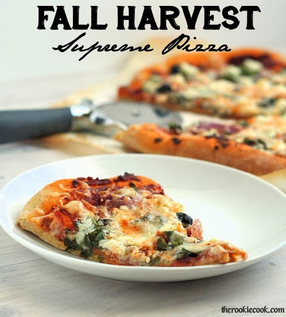 Fall Harvest Supreme Pizza ~ The Rookie Cook