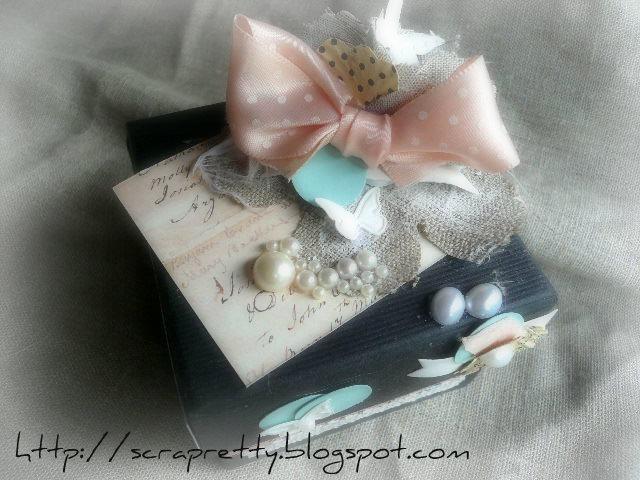 Scrapretty tutoriel boite a bijoux pour la f te des meres - Boite a bijoux boucle d oreille ...