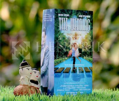 Contoh Undangan Pernikahan Softcover Cover Film Endy & Arum (HCGD-27)