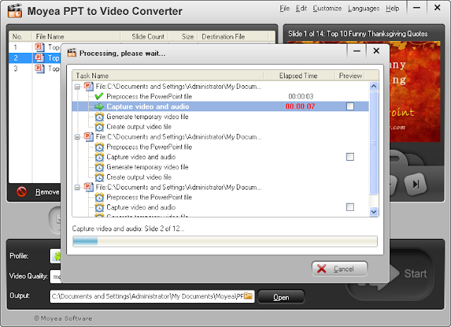 Convert PowerPoint to Videos