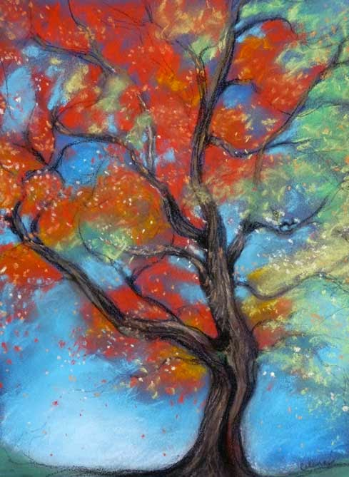 autumn tree by celene petrulak