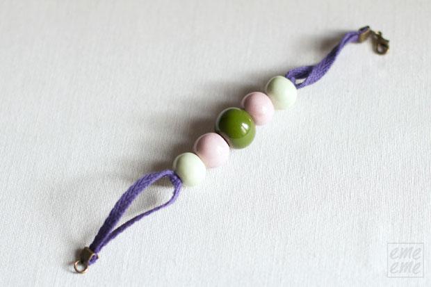 DIY, tutorial,emeeme,pulsera,ceramica,ceramic,bead,bracelet