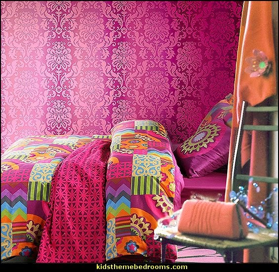 Boho Style Bedding Bohemian Theme Bedroom Decorating Ideas Colorful