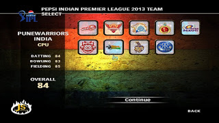 Pepsi IPL 6 Cricket Game Patch 2013