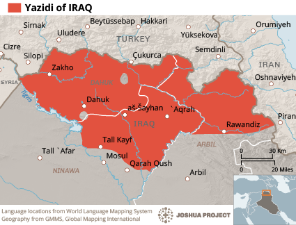 Can It Happen Here Inconsistent Narratives Of Yazidis And Kurds - World language mapping system