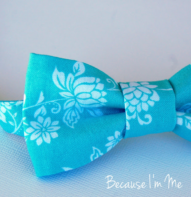 Because I'm Me teal blue wedding bow tie for boys and men.