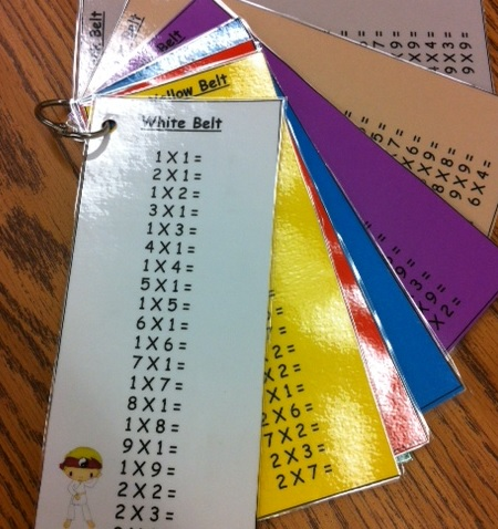 An Apple For The Teacher: Math Facts Practice Karate Style