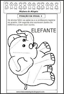 Desenho de elefante-escrever palavras