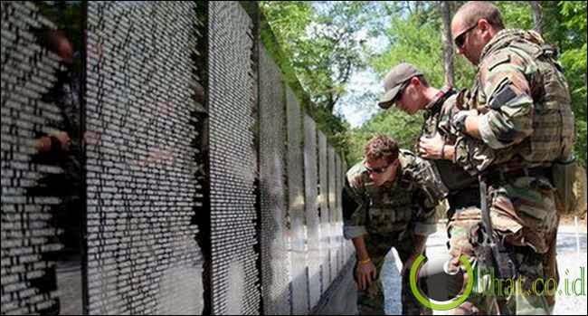Tembok Memorial Veteran Vietnam, Washington, AS