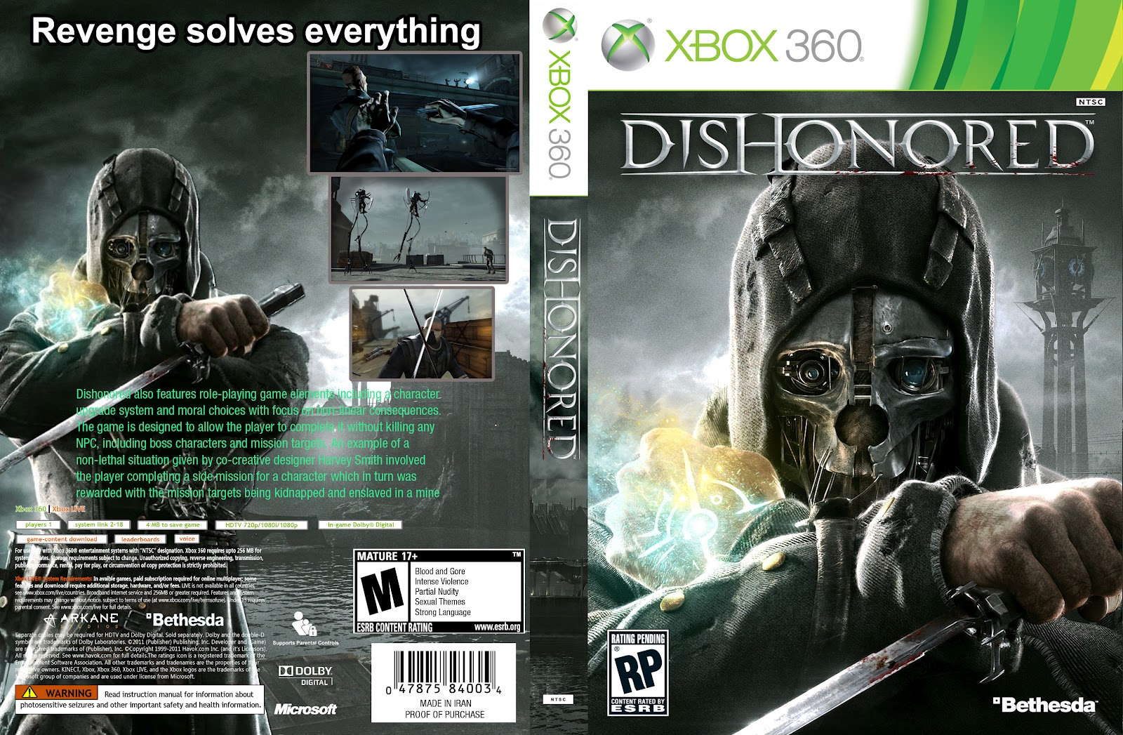 Dishonored nudity porn film
