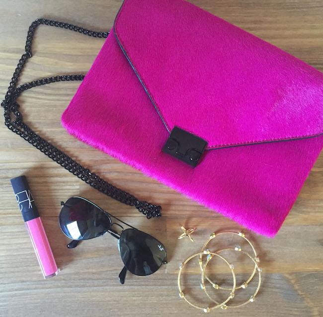 randall loeffler handbag, NARS lipgloss, ray ban sunglasses, Elizabeth & james ring, julie vos bracelets