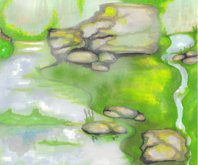 Natali Topliff- Mixed Media Render Experiment of Landscape