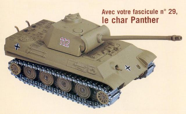 Le modèle initial acheté avec le fascicule explicatif  (Hachette- Collections). Il s'agit de la reproduction d'un Panther modèle G tardif avec train de roulement du dernier type sans bandage de caoutchouc autour des roues (Stahlrollen).