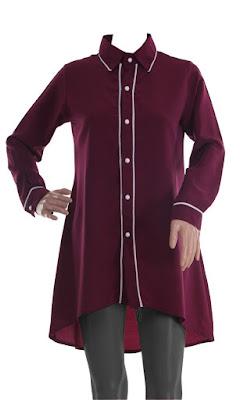 Model Kemeja Wanita Muslimah Trendy Modern