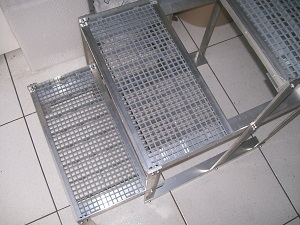 escadas para mesa de exames veterinários