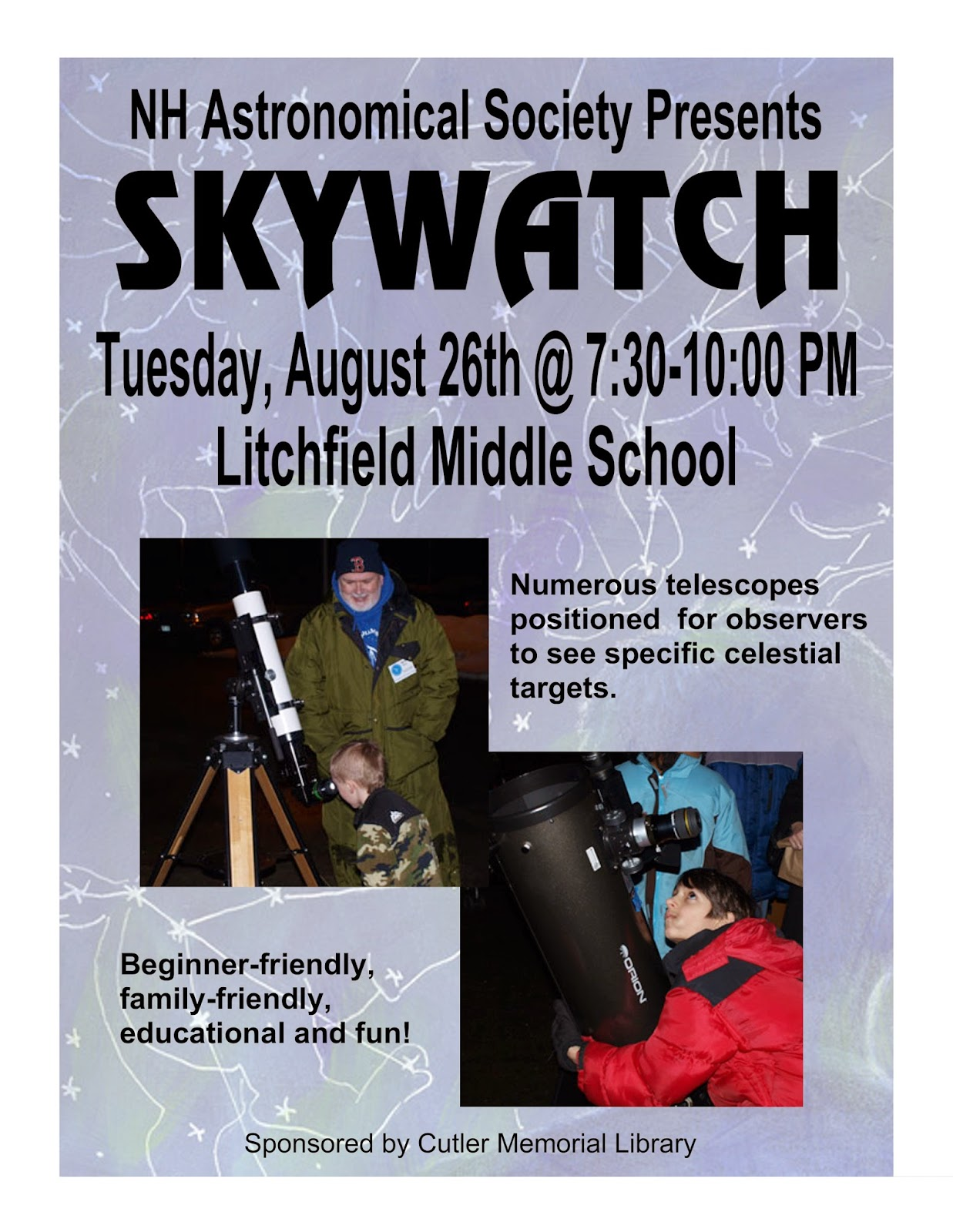 Join Us for a Skywatch on August 26th