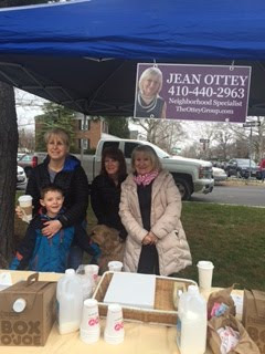 Keeping Warm with Coffee and Donuts at the Rodgers Forge Easter Egg Hunt