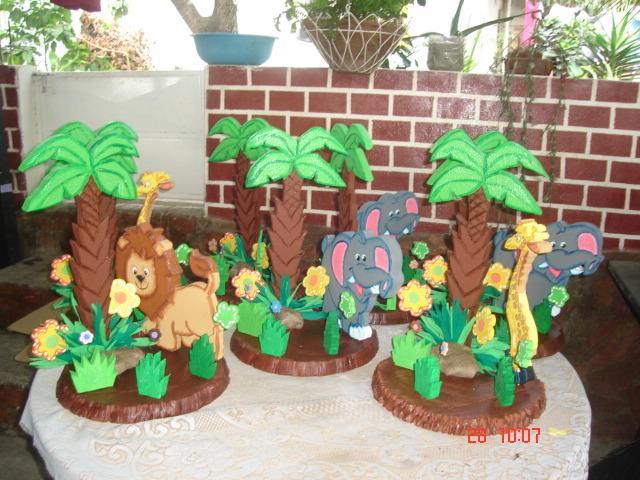 Fiesta de animalitos de la selva - Imagui