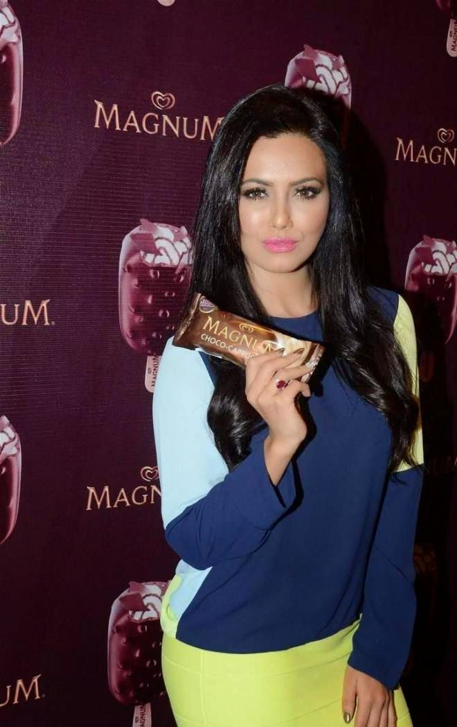 Sana Khan Stills At New Magnum Ice Cream Launch