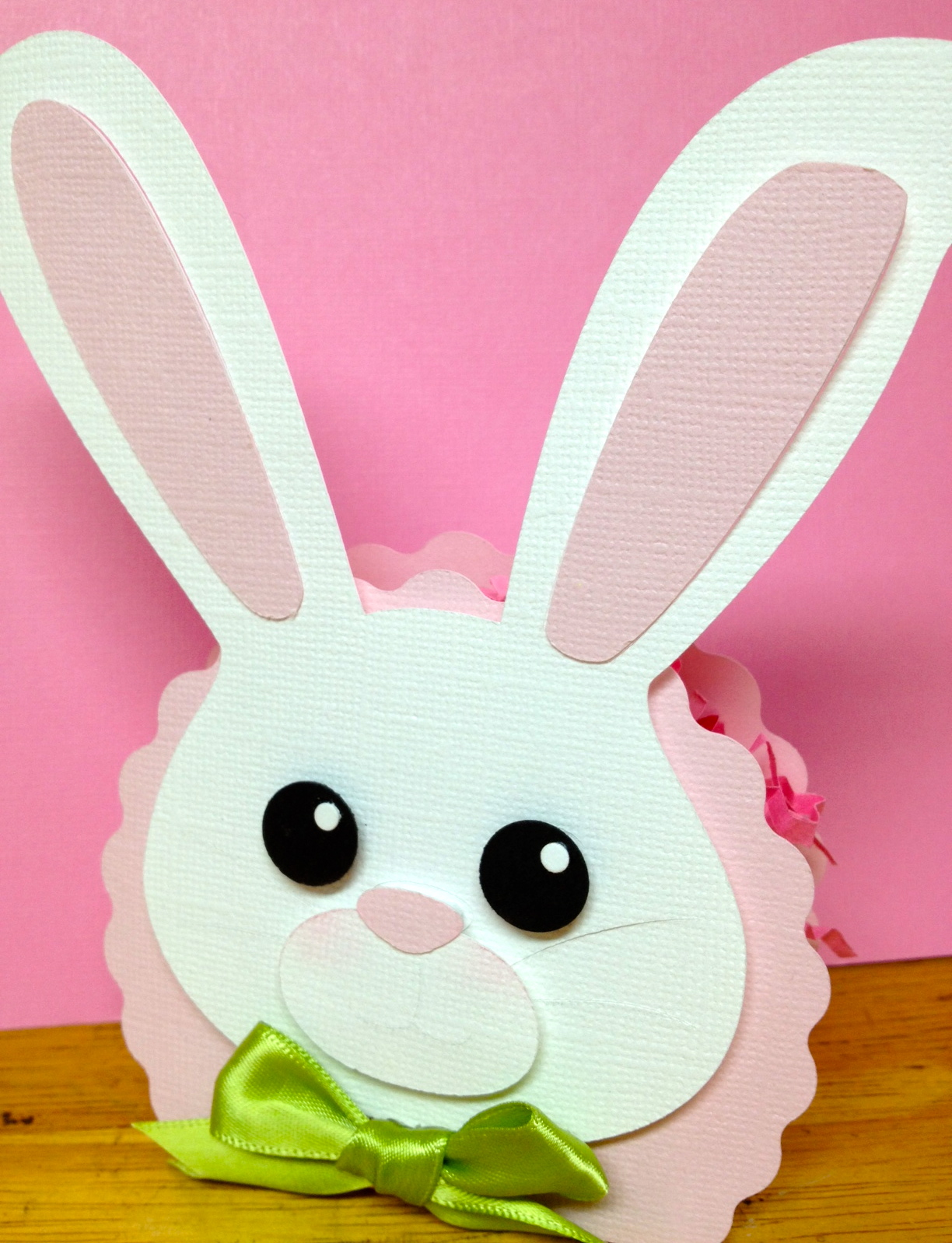 life is sweet easter bunny scalloped bag