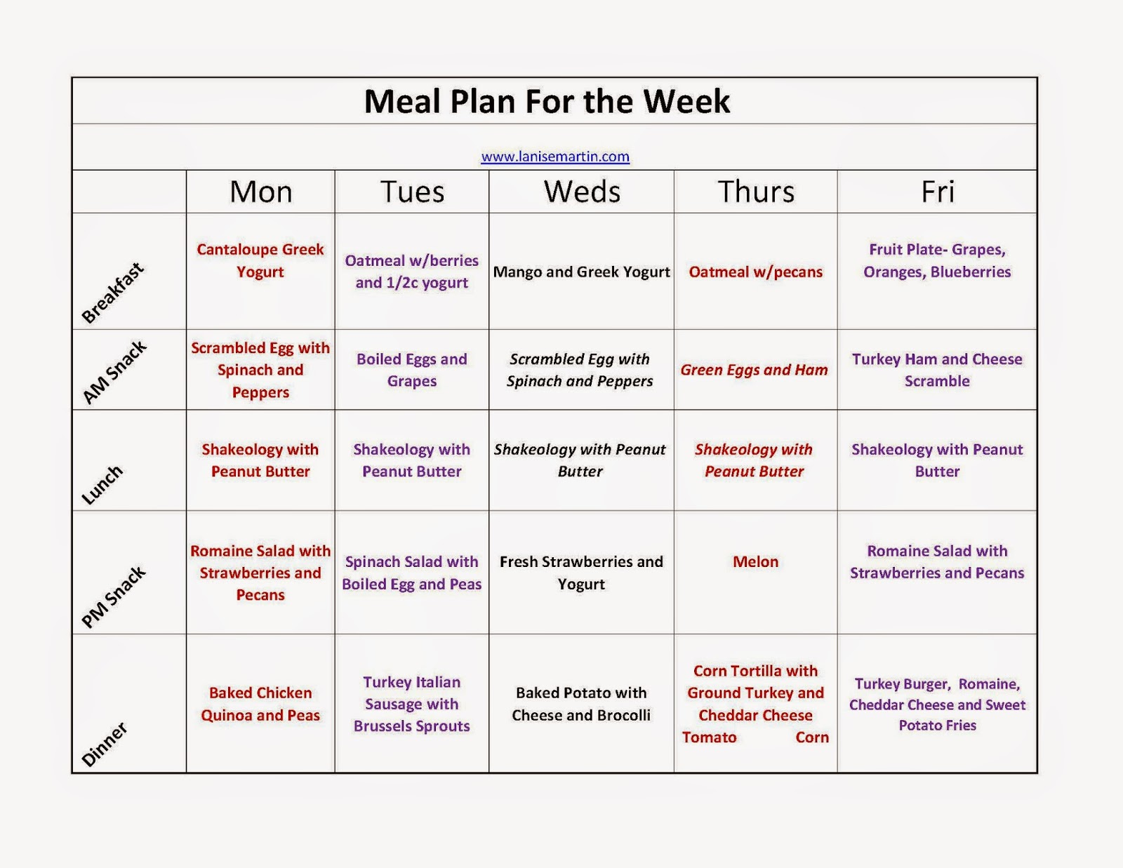 Start from $10 per month Basic meal plan