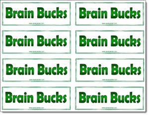 Classroom freebies brain bucks freebie for Classroom bucks template