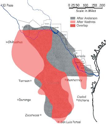 Geographic distribution of Lophophora williamsii (peyote)