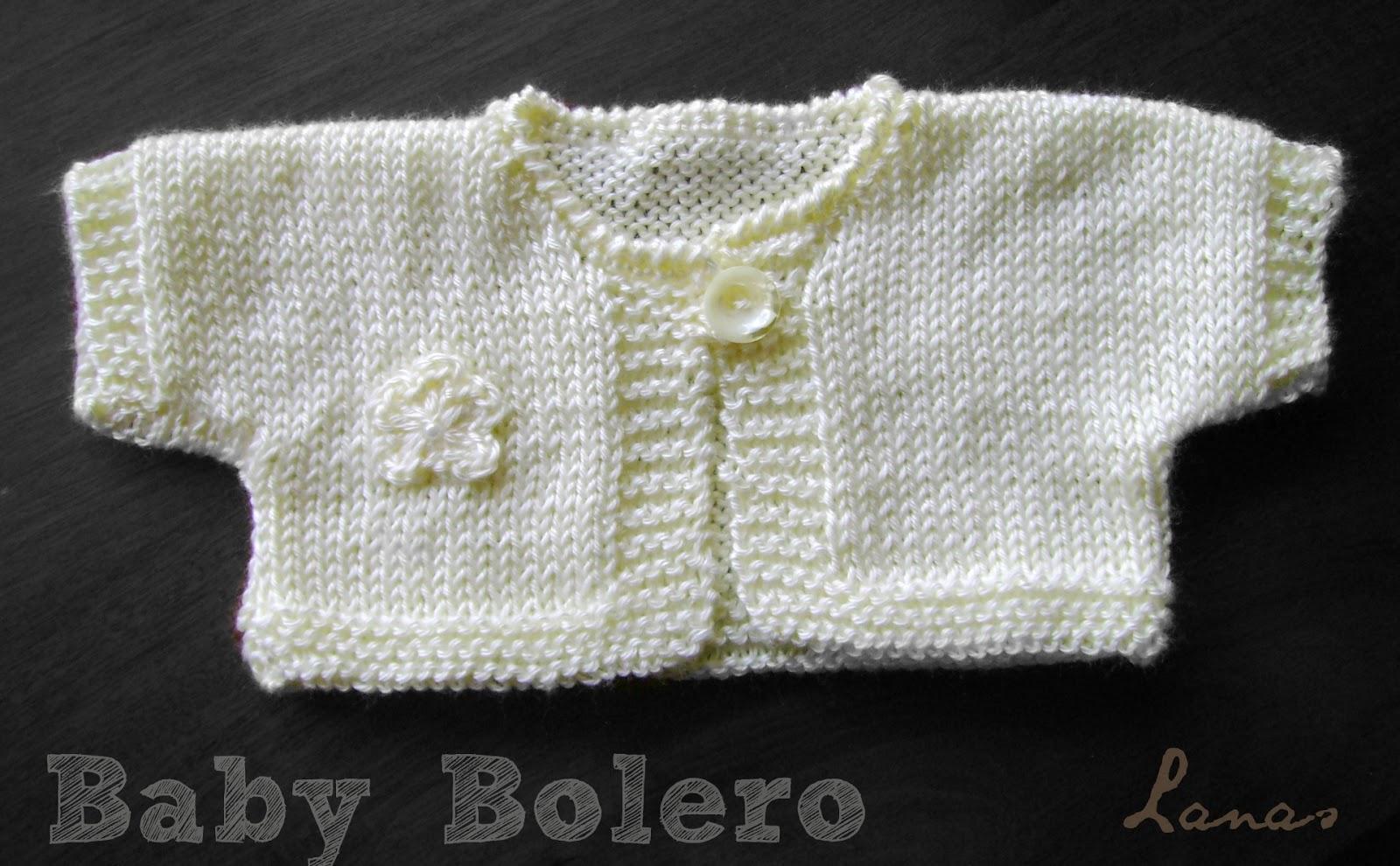 Free Bolero Knitting Pattern For Child : Lanas Hilos: Baby Bolero (English pattern)