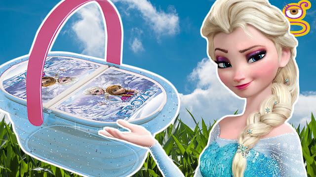 Video Cesta picnic de Frozen con Play Doh lunch basket Elsa Anna Frozen