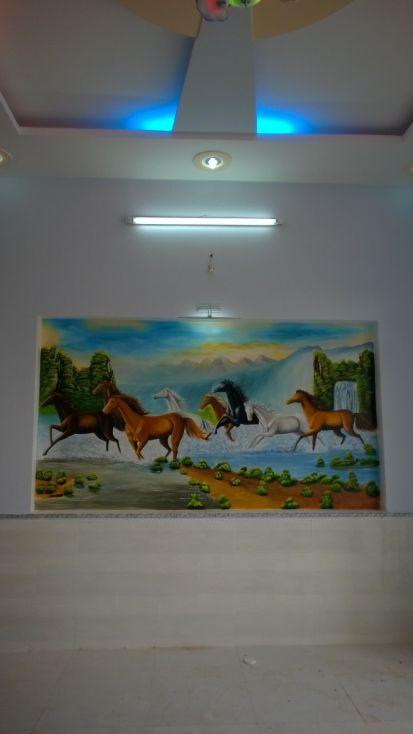 Nhà trang trí bức tranh phong thủy đẹp