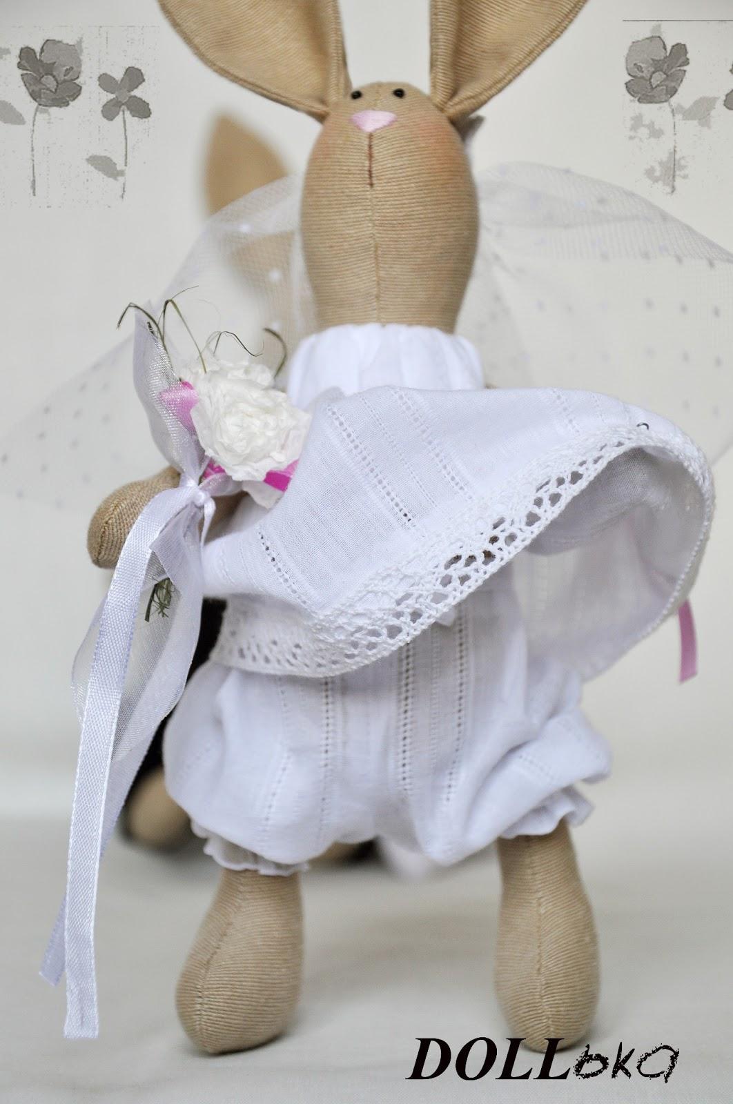 свадебные зайки игрушки ручной работы