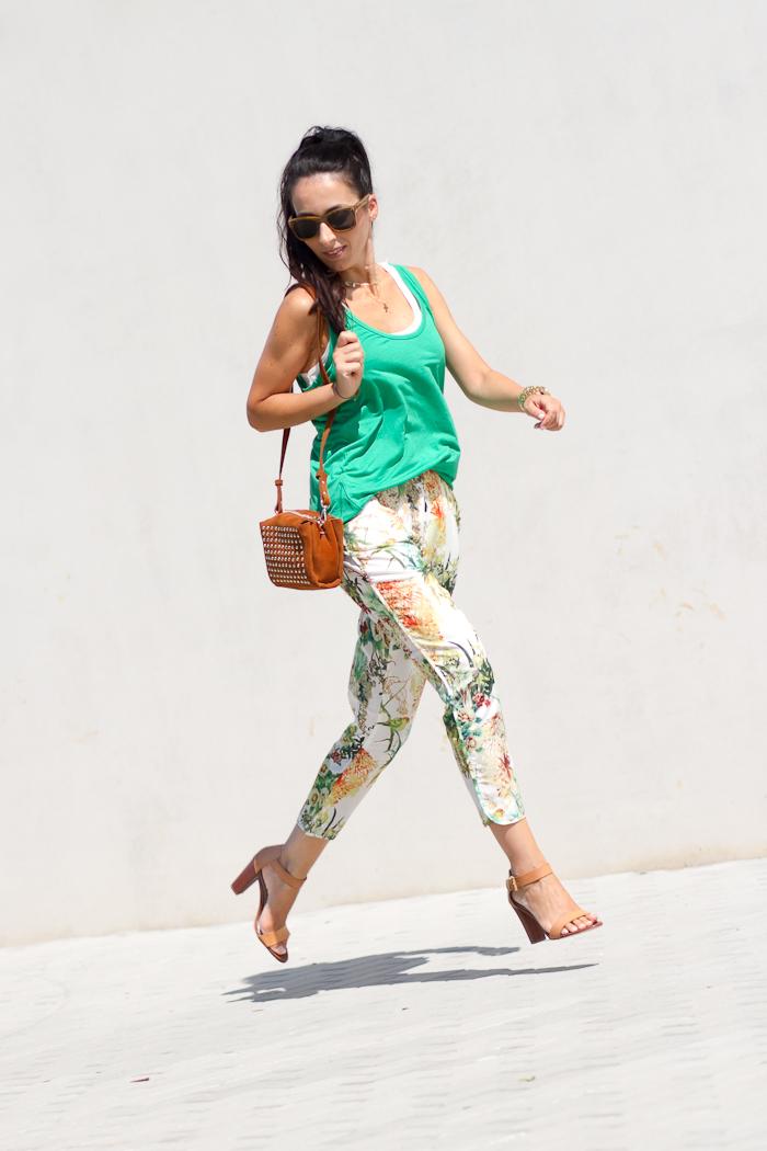 Pantalon Harem floral