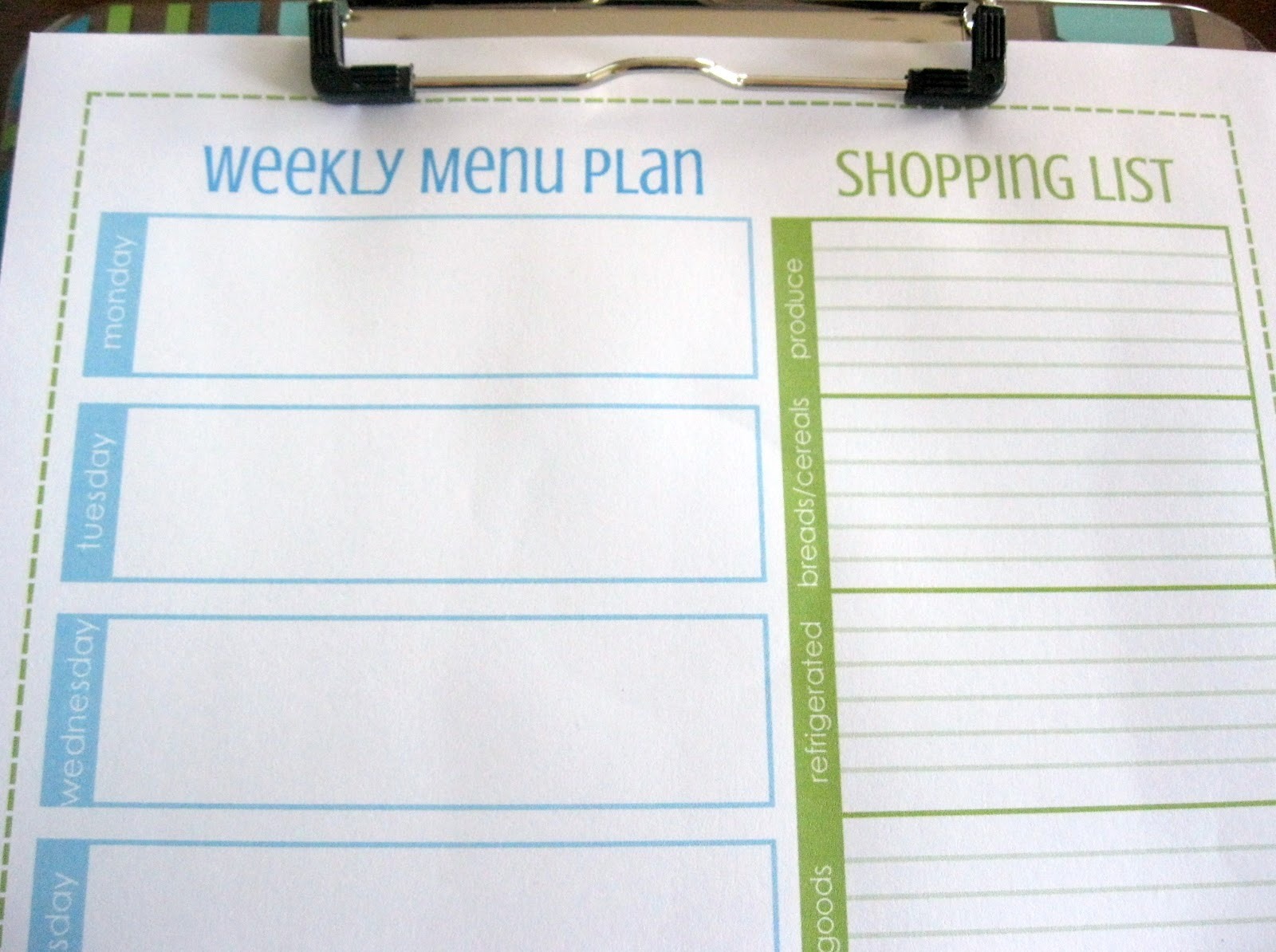 Weekly Menu Planner and Shopping List – plan your weekly menu and ...