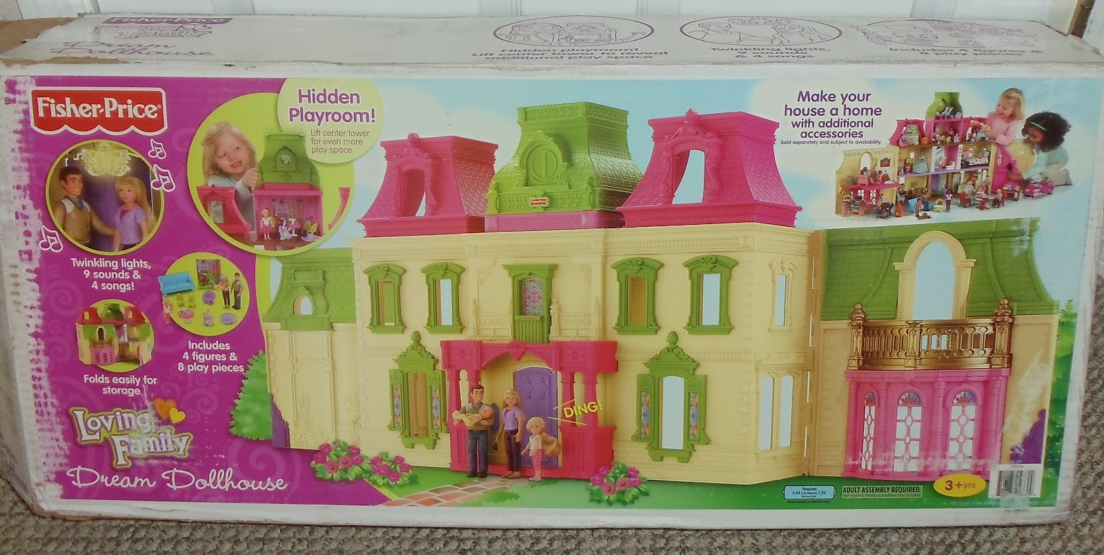Fisher price doll house furniture - Details About Fisher Price Loving Family 6364 Dream Dollhouse Dolls 225x300 The
