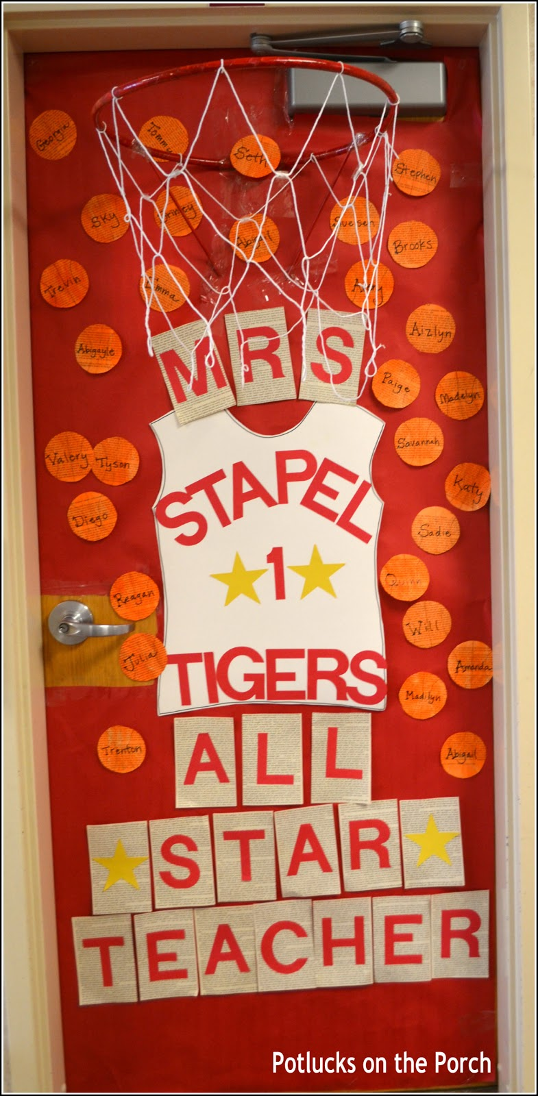 All Star Teacher 3D Basketball Door : basketball door - Pezcame.Com