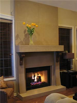 De jong dream house on fire with choices for Concrete mantels and hearths