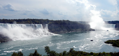 A view of the Niagara Falls from the Queen Victoria Park in Canada
