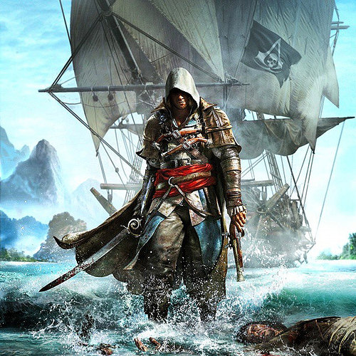 Assassin Creed IV: Black Flag set in the Caribbean sea