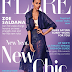 ZOE SALDANA COVERS 'FLARE' MAGAZINE JANUARY 2014