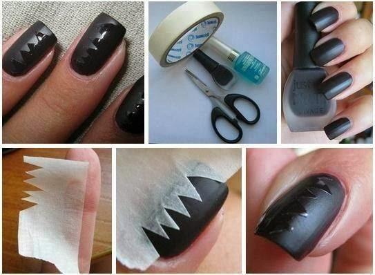 Nail art: Unhas picoteadas