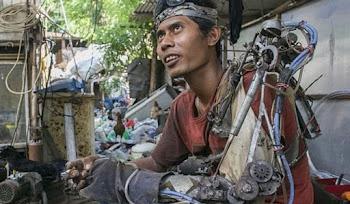 Felçli Kolunu Biyonikleştiren Endonezyalı Iron Man