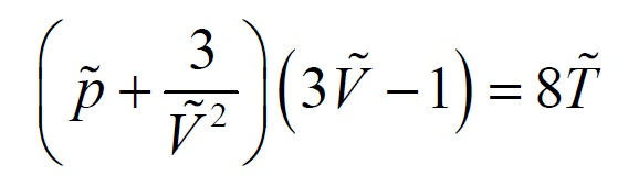 van der waals equation of state pdf