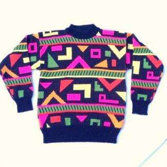 80s Aztec Sweater for Men